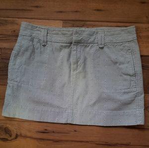 Grey Jean mini skirt